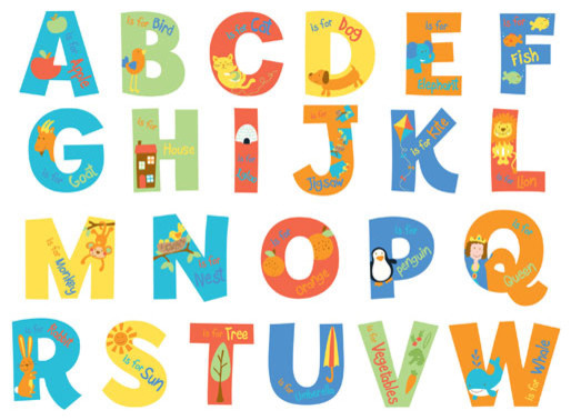 A Is For Alphabet Wall Decals Modern Wall Letters By