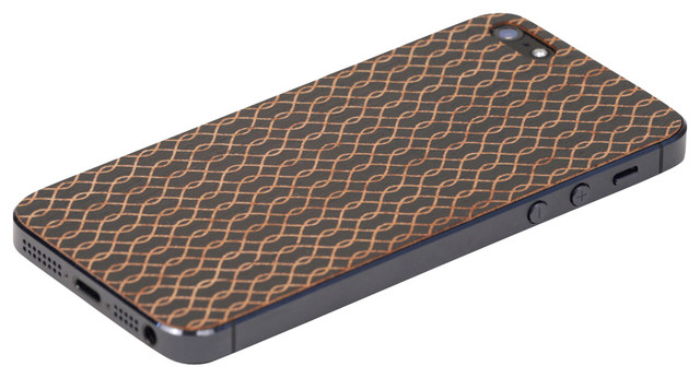 Waves iPhone Cover, Black modern-home-decor