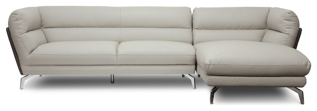 Baxton Studio Quall Gray Modern Sectional Sofa contemporary-sectional-sofas