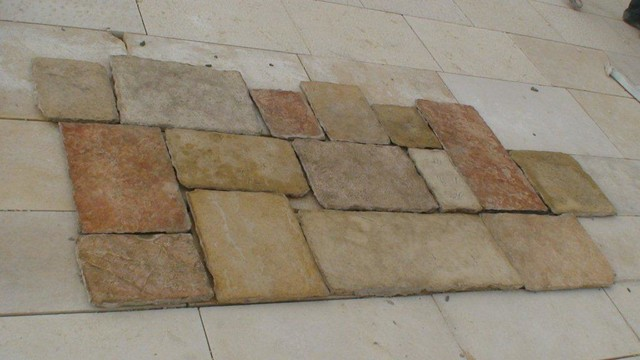 Antique Jerusalem Stone Floor Mediterranean Wall And