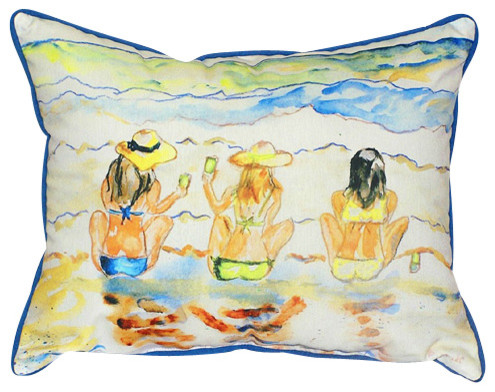 Betsy Drake Bottoms Up Pillow- Indoor/Outdoor beach-style-outdoor-pillows