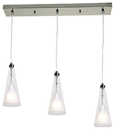 Access Lighting Icicle Bar Pendant 50544-CH/CLOP - 9.5W in. Chrome contemporary-pendant-lighting