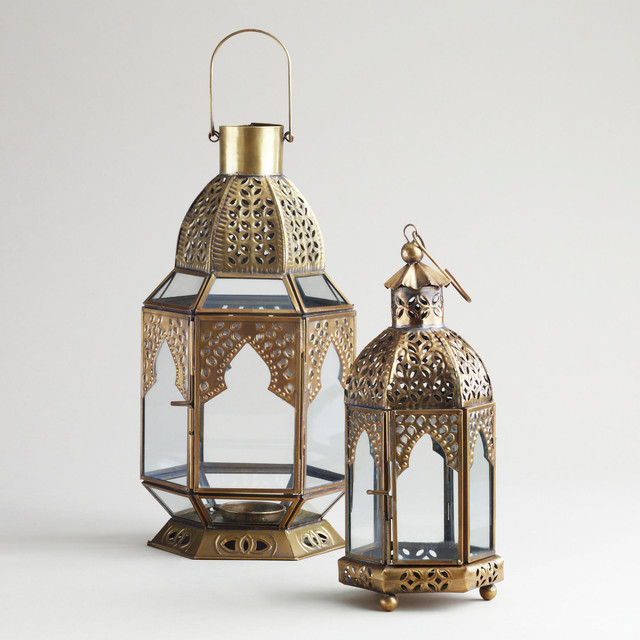 Clear Tabletop Lantern eclectic-candles-and-candleholders