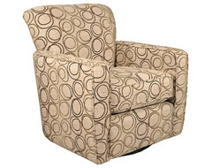 Contemporary Virginia Beach Swivel Occasional Chair contemporary-armchairs-and-accent-chairs