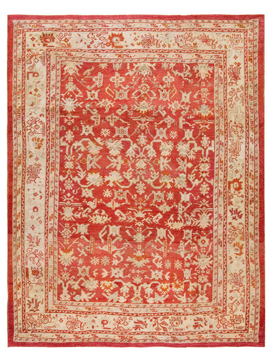 "Antique Turkish Oushak Carpets - #18875 antique Turkish Oushak carpet 8'2"" x 10'6"""