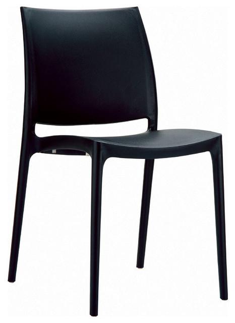 Maya Dining Chair Black - Set of 2 modern-dining-chairs