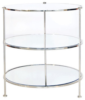 Fairmont Nickel & Mirror Side Table contemporary-side-tables-and-end-tables