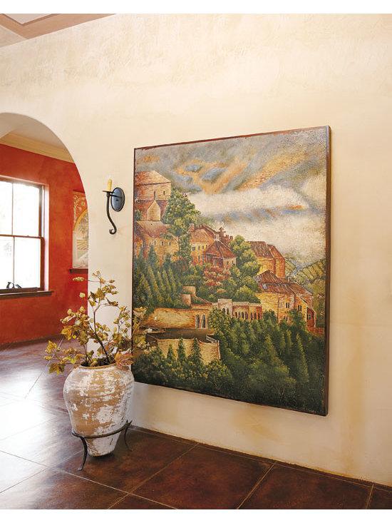 Tuscan Village Painting -