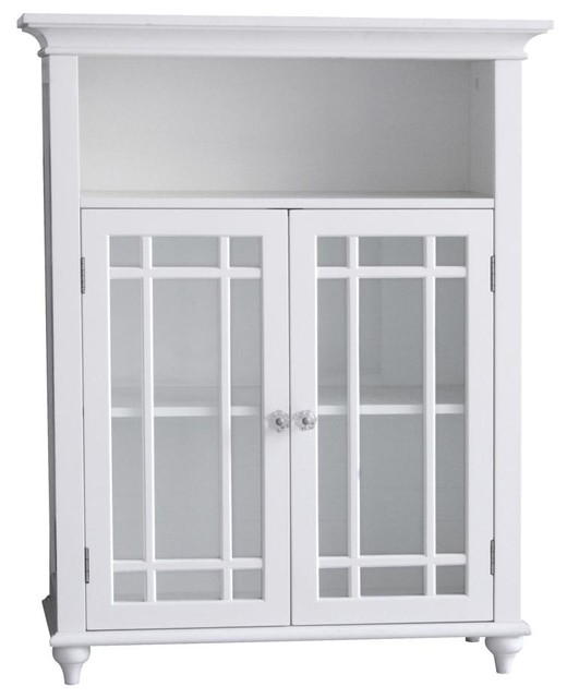 Neal Double Door Floor Cabinet Transitional Bathroom Cabinets And