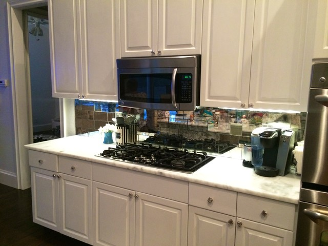 antique mirror tiles for kitchen backsplash eclectic glass tile backsplash photos to spark your imagination