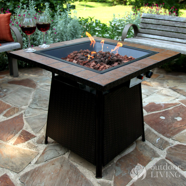 Uniflame propane outdoor fire bowl contemporary fire for Outdoor fire bowl