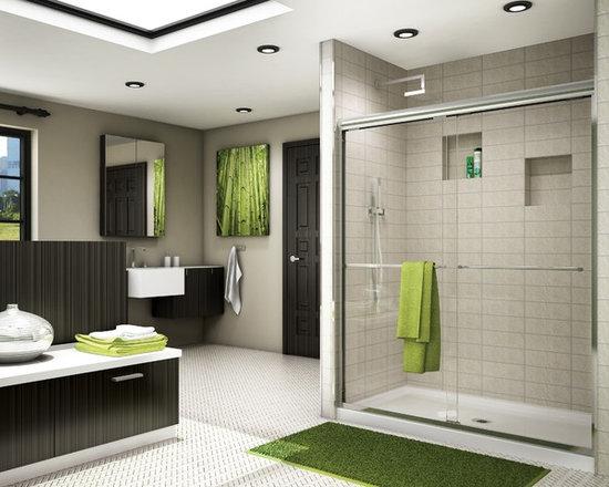 """Fleurco Banyo Cordoba Shower 56""""-60"""" Frameless In-Line Sliding Shower Doors ES11 -"""