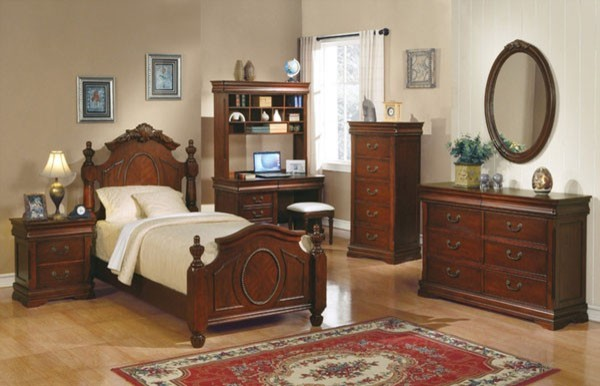 Acme Furniture Classique Cherry Kids 4 Piece Full Bedroom Set 11870AF 4Se
