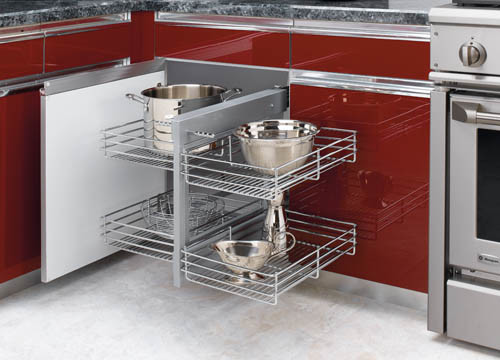 Blind Corner Pull Out Shelves - Kitchen Drawer Organizers - phoenix - by Slide Out Shelves LLC