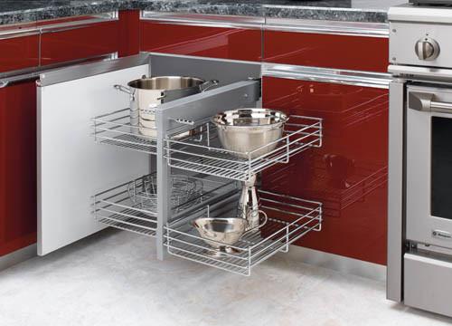 Blind Corner Pull Out Shelves - Kitchen Drawer Dividers ...