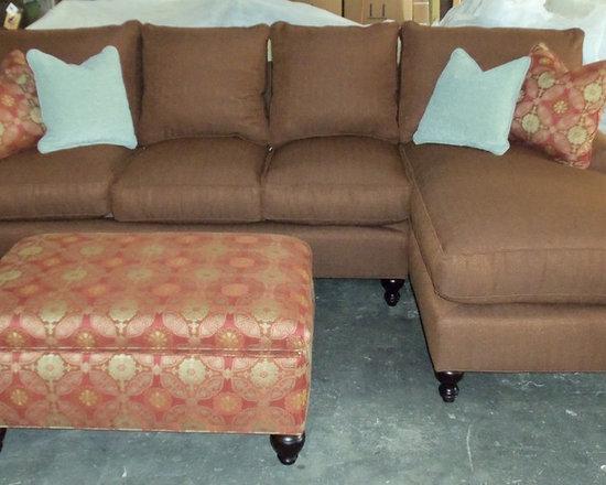 Customer Custom Orders - Robin Bruce Cindy Sectional and Clayton Marcus Storage Ottoman