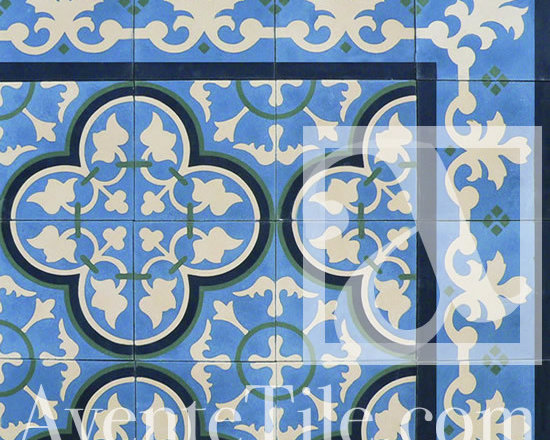 "Traditional Bayahibe Cement Tile 8"" x 8"" -"