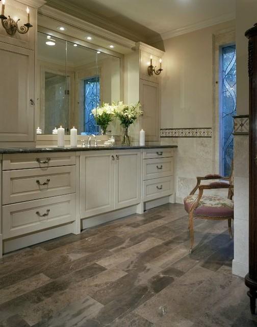 Natural Stoen Flooring eclectic