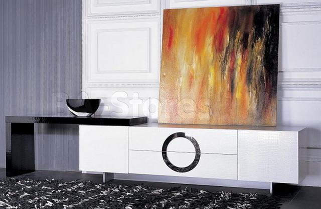 armani xavira white crocodile texture tv stand with l shape extension vig furn. Black Bedroom Furniture Sets. Home Design Ideas