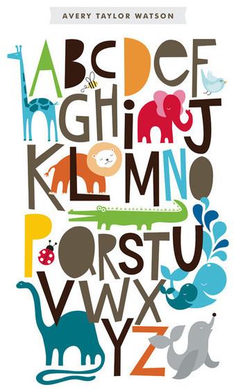 Animals Alphabet Print contemporary-kids-decor