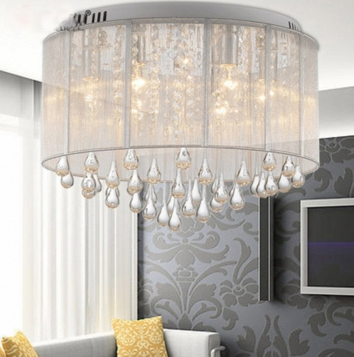 High End Crystal Led Ceiling Lamps For Living Room Remote