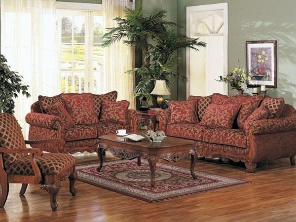 Home decorating pictures traditional living room sets Floral living room furniture sets