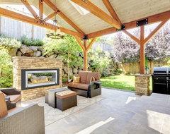 Eco-Feu Santa Cruz 2-Sided Biofuel Fireplace contemporary-indoor-fireplaces