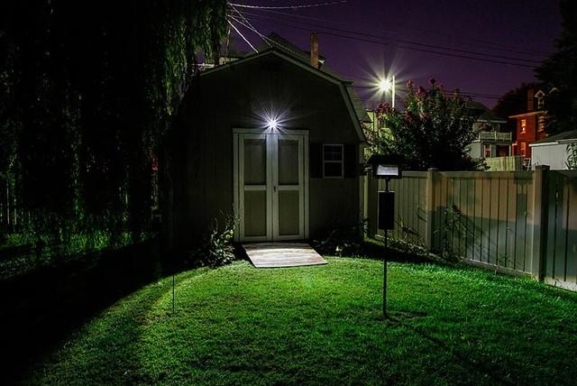 LED Backyard Shed Exterior Lighting