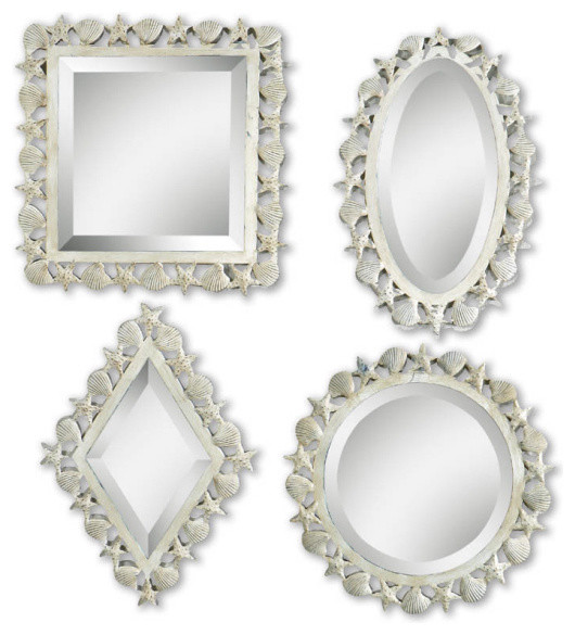 08011-b Shells & Star Fish, 2 square and 2 r by Uttermost modern-wall-mirrors