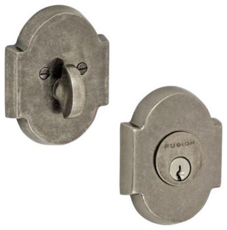 Deadbolt Locks by Fusion Door Hardware - Blacksmith Forged Single Deadbolt Lock - Cabinet And ...