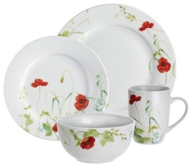 These poppies definitely won't make you sleep - the Paula Deen Signature Dinnerw modern-dinnerware