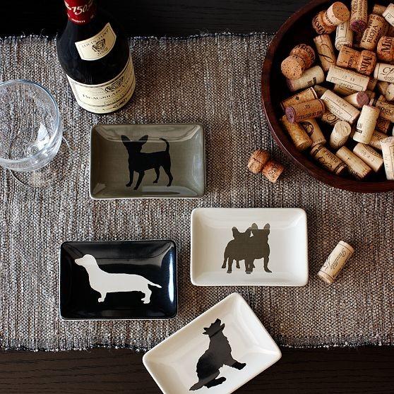 Dog Rectangle Dessert Plate modern-salad-and-dessert-plates