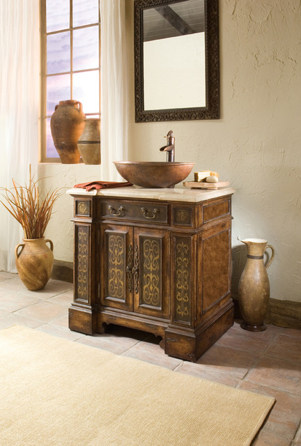 "32"" Esperanza Vessel Sink Single Vanity - traditional - bathroom"