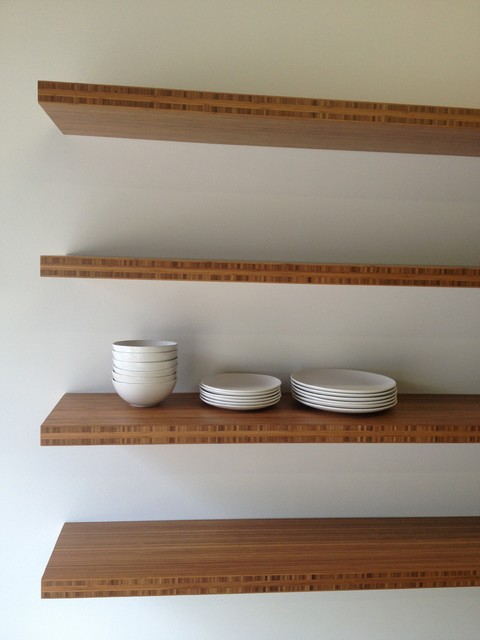 Four Floating Shelves 12 X 60 175 Contemporary