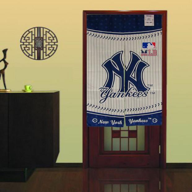 Mlb new york yankees door curtain modern bathroom for Yankees bathroom decor