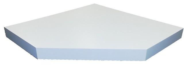 welland chicago wall floating corner shelf 20 inch white. Black Bedroom Furniture Sets. Home Design Ideas