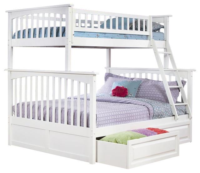Atlantic Furniture Columbia Twin over Full Bunk Bed in