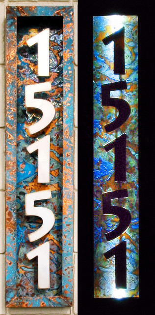 Illuminated House Numbers Modern House Numbers