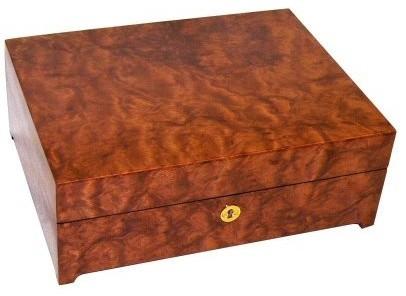 Vivien Bubinga Wood Jewelry Box - Modern - Storage Bins And Boxes - by Hayneedle