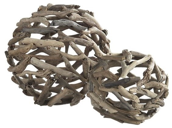 Driftwood Large Ball eclectic accessories and decor
