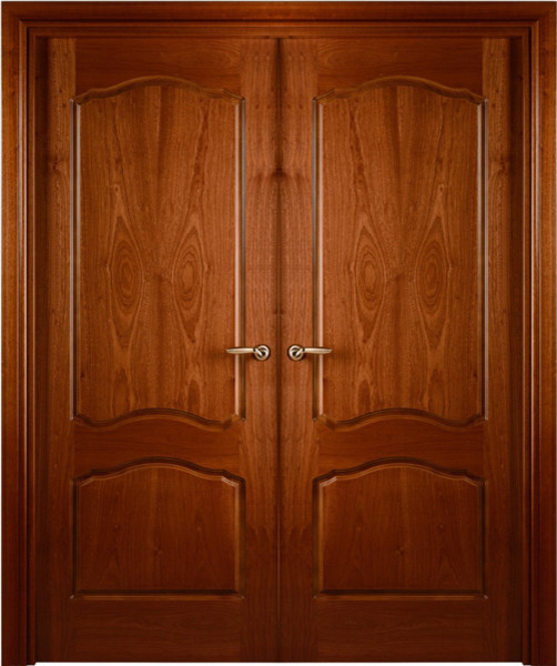 Prefinished Interior Double Door African Sapele Veneer Arched 2_panel - Contemporary - Interior ...