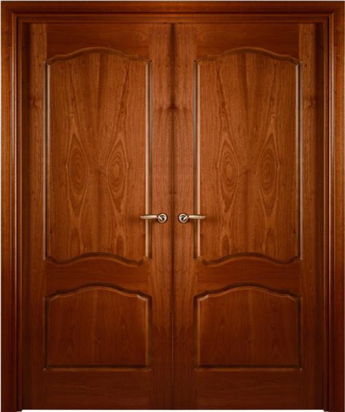 Prefinished interior double door african sapele veneer for Double door wooden door