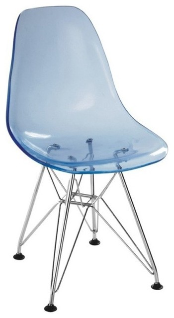 Zuo Baby Spire Transparent Blue Kids Chair contemporary-kids-chairs