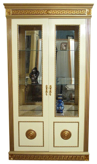 Neo Classical Cream & Gold China Curio Display Cabinet - Traditional - China Cabinets And ...