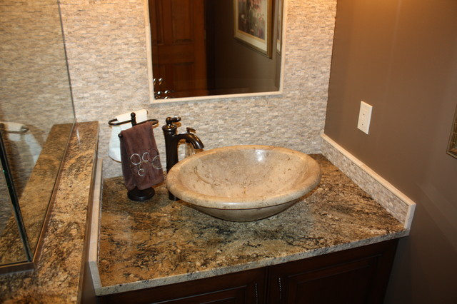 Travertine vessel bowl bathroom sinks cleveland by for Vessel sink bathroom ideas