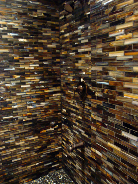 Glass shower contemporary tile other metro by lunada bay tile