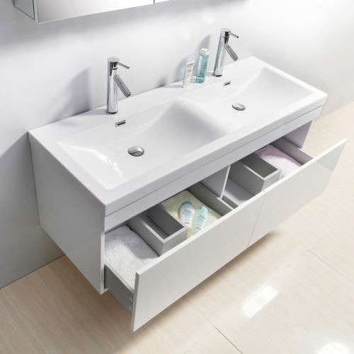 55 inch double sink white bathroom vanity contemporary los angeles by vanities for bathrooms. Black Bedroom Furniture Sets. Home Design Ideas