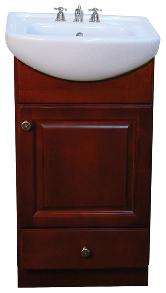 ... 18-inch Wood Dark Cherry Bathroom Vanity contemporary-bathroom-sinks