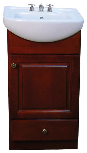 18 Inch Laundry Sink Cabinet : ... 18-inch Wood Dark Cherry Bathroom Vanity contemporary-bathroom-sinks
