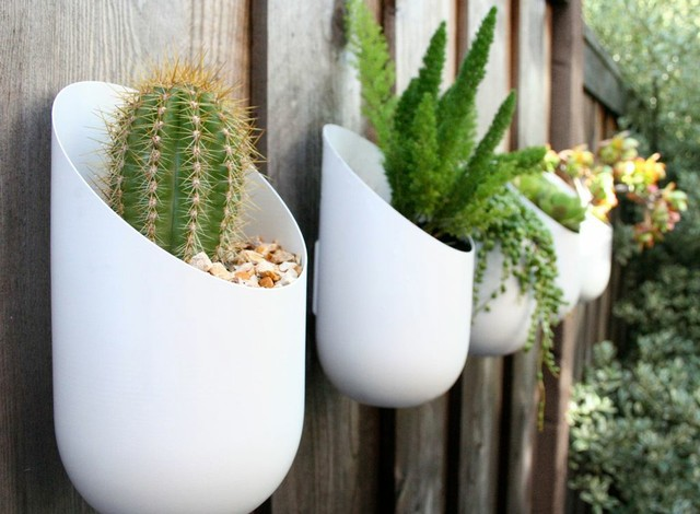 Wall mount aluminum planters - Wall mounted planters outdoor ...